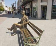 VARNA, BULGARIJE - MEI 02, 2017: Monument aan stadsburger het rusten stock fotografie