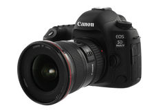 Varna, Bulgarije - September 24, 2016: Teken IV van Canon 5D camera royalty-vrije stock foto