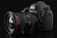 Varna, Bulgarije - September 24, 2016: Teken IV van Canon 5D camerawi Royalty-vrije Stock Fotografie