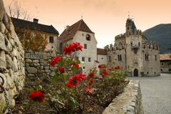 Varna BZ 2 de noviembre de 2017: Abadía de Novacella, el Tyrol del sur, Bressanone, Italia Fotografía de archivo
