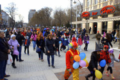 Varna Carnival street procession Stock Image