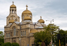 Varna Cathedral,Bulgaria. The Cathedral of the Assumption in Varna, Bulgaria. Completed in 1886, and also known as the Dormition of the Theotokos Cathedral Stock Photo