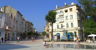 Varna city main street Royalty Free Stock Photos