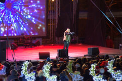 Varna city New Year concert Stock Images