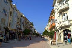 Varna city renovated main street Stock Photo