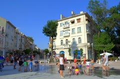 Varna city renovated main street Stock Image