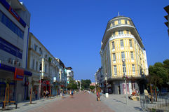 Varna city renovated main street Stock Images