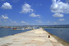 Varna city seafront view,Bulgaria Stock Image