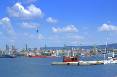 Varna city seafront view,Bulgaria Royalty Free Stock Images
