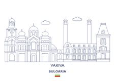 Varna City Skyline, Bulgaria Stock Photography