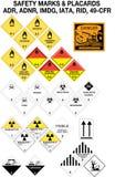 varna för samlingssäkerhetstecken stock illustrationer