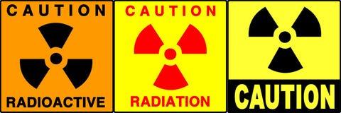 varna för tecken för varning set stock illustrationer