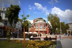 Varna głównego placu widok Bułgaria fotografia royalty free