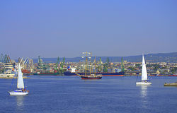 Varna-Hafengebiet, Bulgarien Lizenzfreie Stockfotos