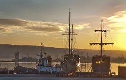 Varna harbour, Bulgaria Royalty Free Stock Photos