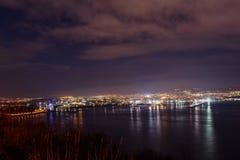 Varna la nuit Photographie stock libre de droits
