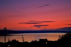 Varna lake evening view Royalty Free Stock Photo
