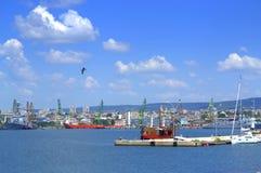 Varna miasta nadbrzeża widok, Bułgaria Obrazy Royalty Free