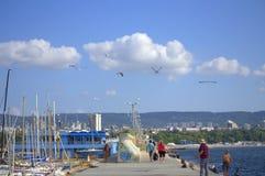 Varna miasta nadbrzeża widok, Bułgaria Obraz Stock