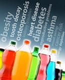 Varna mot de farliga effekterna av läsk på hälsa fotografering för bildbyråer