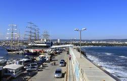 Varna port morski Bułgaria Obrazy Stock