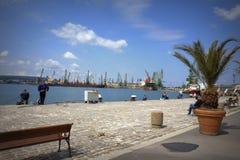 Varna portu widok, Bułgaria Zdjęcie Stock