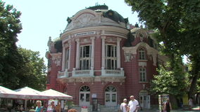 Varna Regional Drama Theatre, Bulgaria. Varna was founded by the ancient Greeks as the sea gate of the Bulgarian kingdom. Today Varna - the third largest city in stock video footage