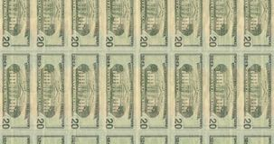 Computer generated footage with transitions of American Banknotes stock video footage