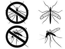 Varnande symbol för myggor Royaltyfri Fotografi