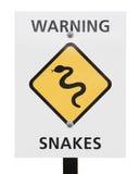 Varnande tecken för ormar Arkivbilder