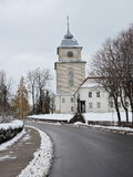 Varniai priest seminary , Lithuania. Old white priest seminary in Varniai tow, Lithuania Royalty Free Stock Photography
