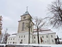 Varniai priest seminary , Lithuania. View of Varniai town  priest seminary in Telsiai region, Lithuania Stock Photo