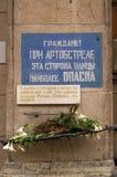 varning för artilleribombningpetersburg saint Royaltyfri Foto