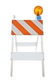 varning för barrikadcloseuplampa Arkivbild