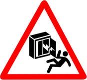 Varning för elektricitetschock, risk av döda Behörig person endast Rött triangulärt tecken för varningssymbol som isoleras på vit Royaltyfri Foto