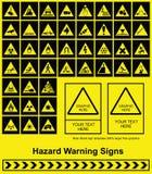 varning för faratecken Arkivfoton