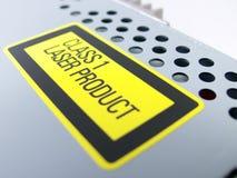 varning för laser-utstrålning Arkivfoto