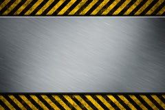 varning för metallbandmall Arkivfoto