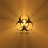 varning för tecken för biohazardsignalljuslampa Royaltyfri Foto