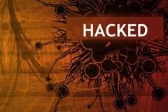 varning hackad säkerhet Fotografering för Bildbyråer
