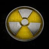 varning isolerat utstrålningstecken Arkivfoton