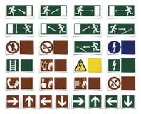 Varning-Symbole Stockfoto