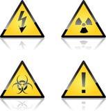 varningen märker yellow Arkivbilder
