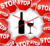 Varningsalkohol Royaltyfri Foto