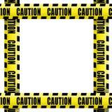 Varningsbandram Arkivfoton