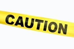 varningsbandyellow Fotografering för Bildbyråer
