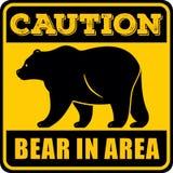 Varningsbjörn i områdestecken också vektor för coreldrawillustration vektor illustrationer