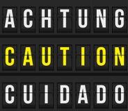 Varningsmeddelande på schema vektor illustrationer