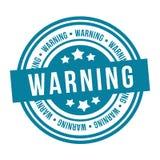 Varningsstämpel Emblem för vektor Eps10 stock illustrationer