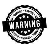 Varningsst?mpel Text inom Emblem f?r vektor Eps10 stock illustrationer